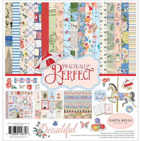 "Practically Perfect Collection Kit  - Carta Bella 12""X12"""