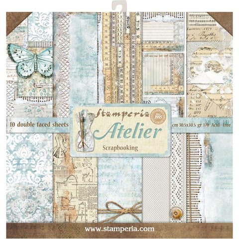 Atelier - Stamperia - 12x12 (30.5 x 30.5cm) -10 double-sided sheets- 170gsm