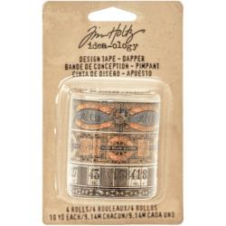Tim Holtz Idea-Ology Design Tape 4/Pkg Dapper