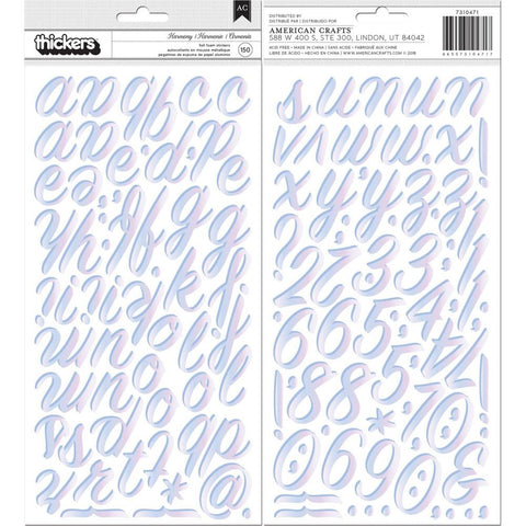"American Crafts Thickers Stickers 5.5""X11""- Harmony W/Iridescent"
