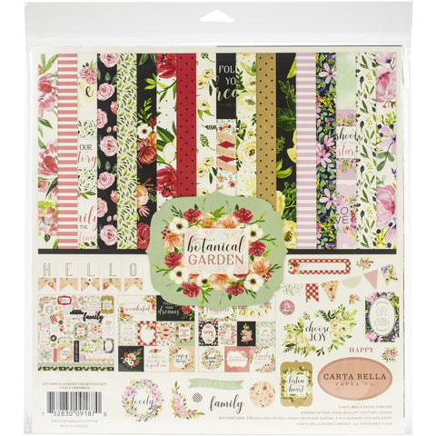 "Botanical Garden Collection Kit  - Carta Bella 12""X12"""