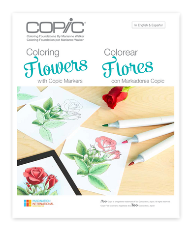 Copic Coloring  Foundations - Coloring Flowers with Copic Markers  by Marianne Walker