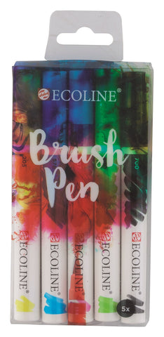 Ecoline Brush Pen - set of five