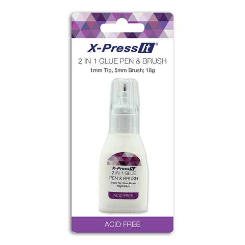 2 in 1 Glue Pen & Brush 18g -  X-press It