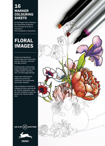 Floral Images - Pepin Marker Colouring Sheets