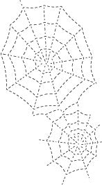 Stitched Spider Webs craft die