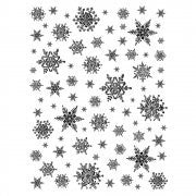 Snowflakes Background stamp