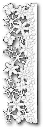 Confetti Floral Border craft die