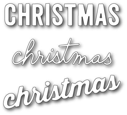 "We wish You - Three fonts of ""Christmas"""
