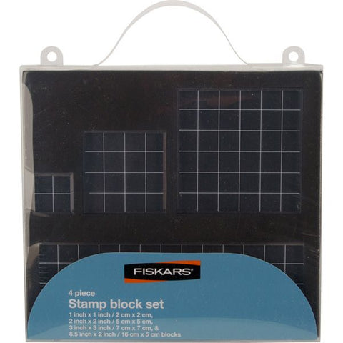Fiskars Acrylic Stamp Block Set - 4 piece