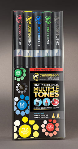 Chameleon Color Tones Markers- 5 Pen Primary Tones Set