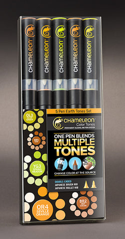 Chameleon Color Tones Markers- 5 Pen Earth Tones Set