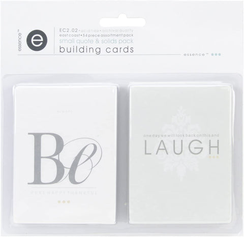 EAST COAST BUILDING CARDS SMALL QUOTES & SOLIDS PACK