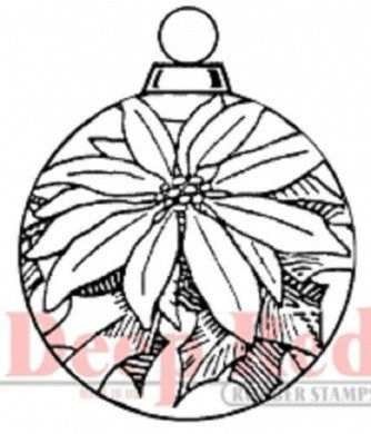 Poinsettia Ornament Stamp