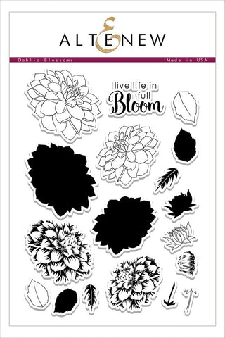 Dahlia Blossoms Stamp Set
