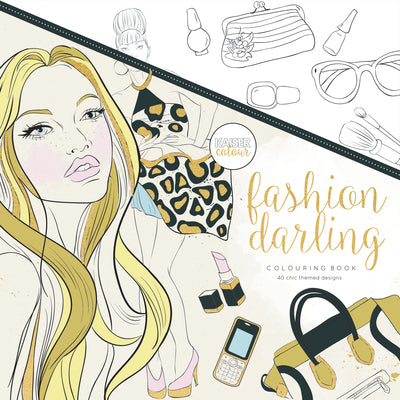 Kaisercolour Fashion darling Colouring Book 250x250mm