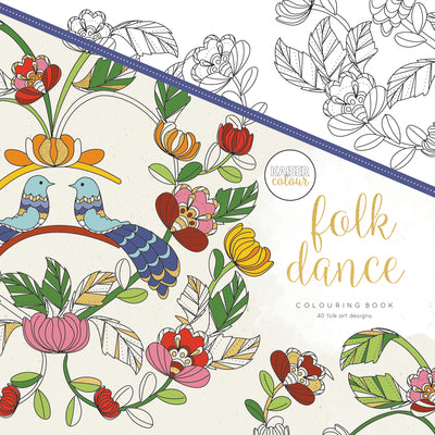 Kaisercolour Folk Dance Colouring Book 250x250mm