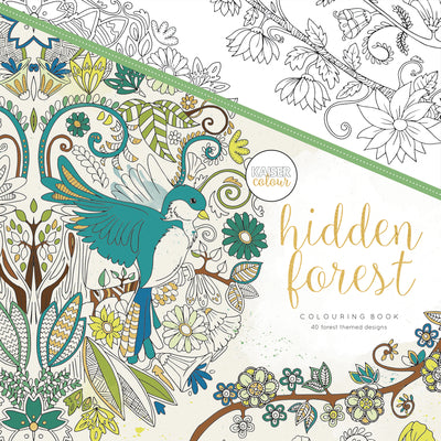Kaisercolour Hidden Forest Colouring Book 250x250mm