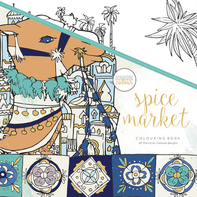 Kaisercolour Spice Market Colouring Book 250x250mm