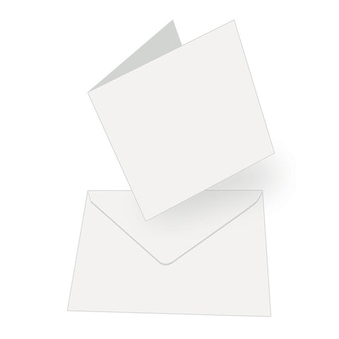 White - Square Cards & Envelopes (50 Sets) - Couture Creations