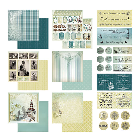 Sea Breeze Collection Pack -12 x12- Couture Creations