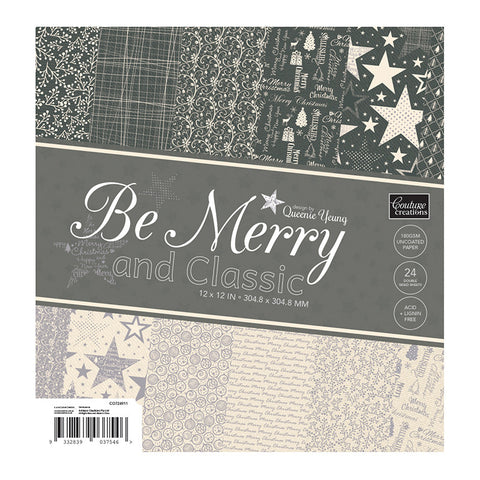 Be Merry and Classic Paper Pad -12 x12