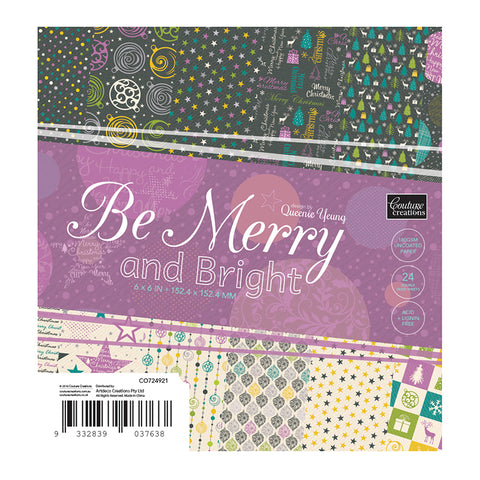 Be Merry & Bright - 6 x 6 Paper Pad - 12 designs x 2 sheets each (24 page)