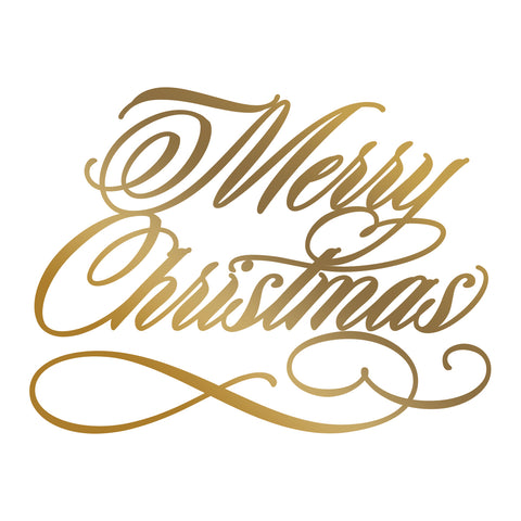 Merry Christmas Hotfoil Stamp - 76 x 57mm | 2.9 x 2.2in - AG & CO