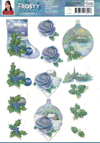 3D Diecut Decoupage Set - Jeanine's Art  Frosty Ornaments