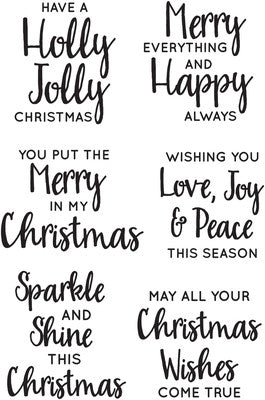 Jolly Sentiments Clear Stamp