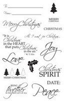 Christmas Sentiments Clear Acrylic Stamp