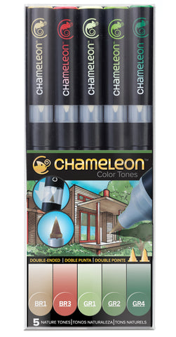 Chameleon Color Tones Markers- 5 Pen Nature Tones Set