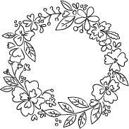 Blooming Sketch Wreath Stamp