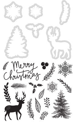 Merry Christmas Dies and Stamp set