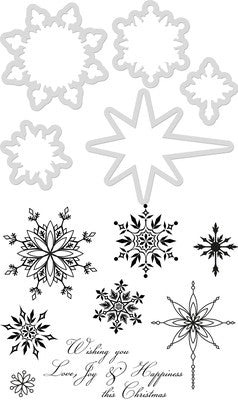 Die and Stamp Snowflakes and Stars