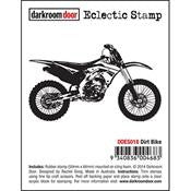 Dirt Bike Eclectic Stamp
