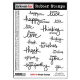 Simple Sayings Rubber Stamp Set