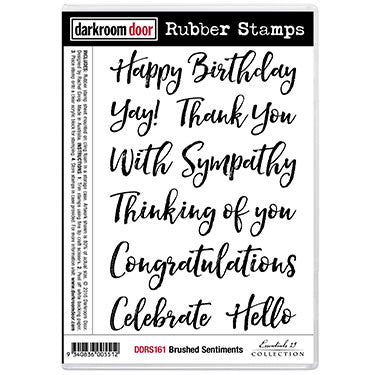 Brushed Sentiments Rubber Stamp Set
