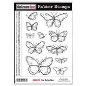 Fine Butterflies Rubber Stamp Set