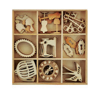 Wooden Flourish Pack- Antiques