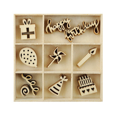 Party Wooden Flourish Pack