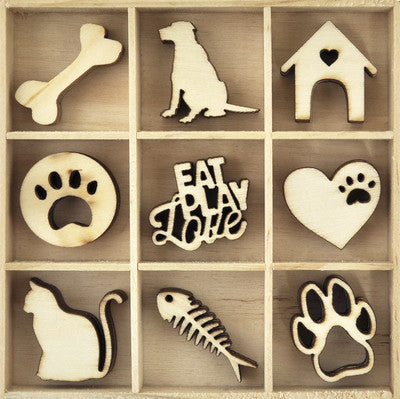 Wooden Flourish Pack - Pets
