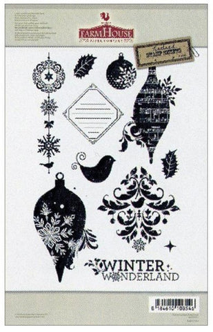 Norland Cardigan Winter Wonderland Christmas Clear Stamp