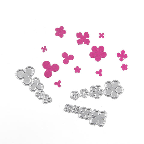 3 sets of build a flower die