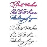 Elegant Sentiments Stamp and Die Combo Heartfelt Creations