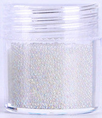 Caviar Beads - clear rainbow