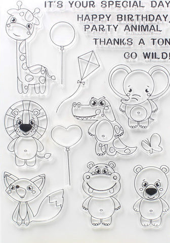 Party Animals Silicon Stamp Set