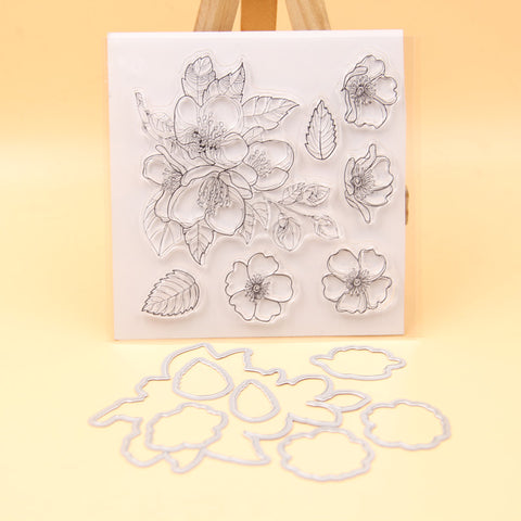 3D FLOWER COLLAGE STAMP AND DIE SET