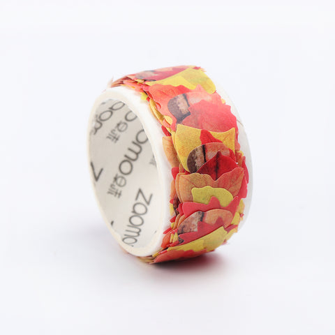 Washi Tape Autumn Maple Leaves Stickers