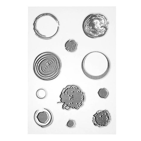 Set  dots, splots,scribbles and circles stamps